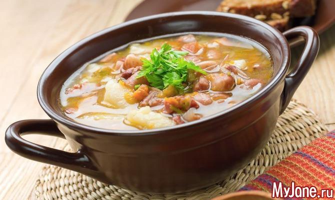 Рецепт борщ фасоль