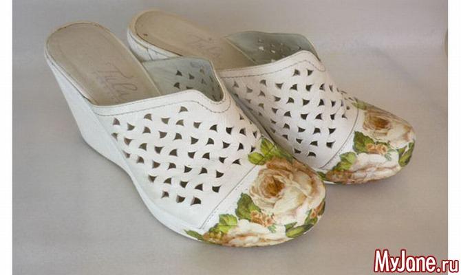 Обновление обуви с помощью декупажа