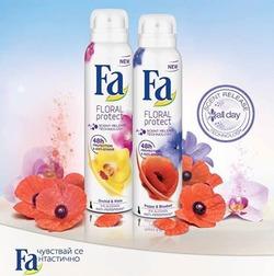 Цветочный антиперспирант Fa FLORAL Protect – аромат и защита на 48 часов