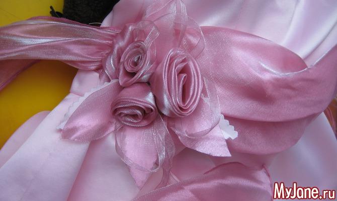 Заколочка с тремя кручеными розами