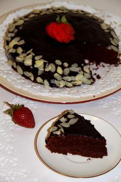 Шоколадно-миндальный торт от Джулии Чайлд