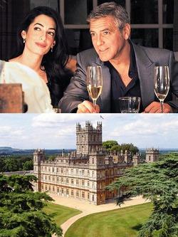 Джордж Клуни женится в Британии, в замке Хайклер