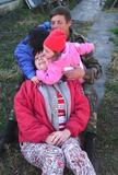 Бабушка вся в поцелуях!!!