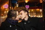 Секунда до французского поцелуя, сила притяжения очень велика:-)