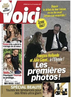 В СМИ попали фотографии французского президента и его любовницы