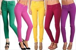 Как носить цветные джинсы. Часть 3 или Оставаться мягкой в одной цветовой гамме