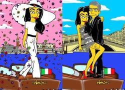 Джордж Клуни и Амаль Аламуддин стали героями «Симпсонов»