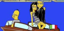 Джордж Клуни и его жена превратились в Симпсонов