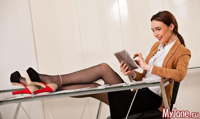 Ножки в офисе фото 34-864