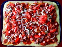 Пицца из всего, что есть в холодильнике