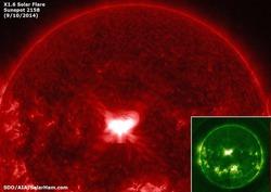 Вчерашняя мощная вспышка на Солнце может спровоцировать появление северного сияния в средних широтах