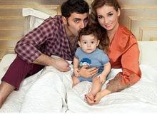 Анфиса Чехова с мужем Гурамом и сыном Соломоном фото