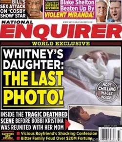 Предсмертное фото Бобби Кристины Браун досталось National Enquirer
