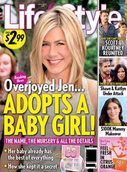 Дженнифер Энистон впервые стала мамой