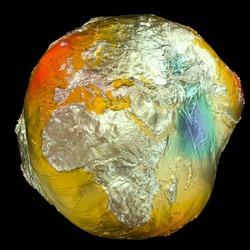 Земля не круглая и не овальная – учёные создали карту голубой планеты без морей