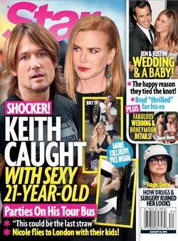 У мужа Николь Кидман роман с 21-летней?