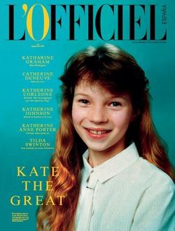 10-летняя Кейт Мосс украсила сентябрьский номер L'Officiel