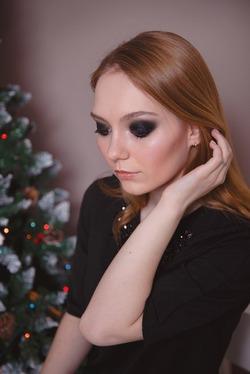 Торжественный пост про новогодний макияж)