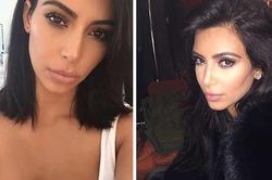 Ким Кардашян обрезала волосы