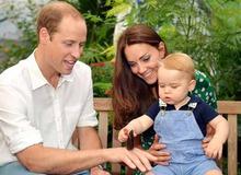 Уильям, Кейт и наследник британской короны сын Джордж фото