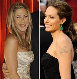 Дженнифер Энистон сделала вид, что не знает Анджелину Джоли