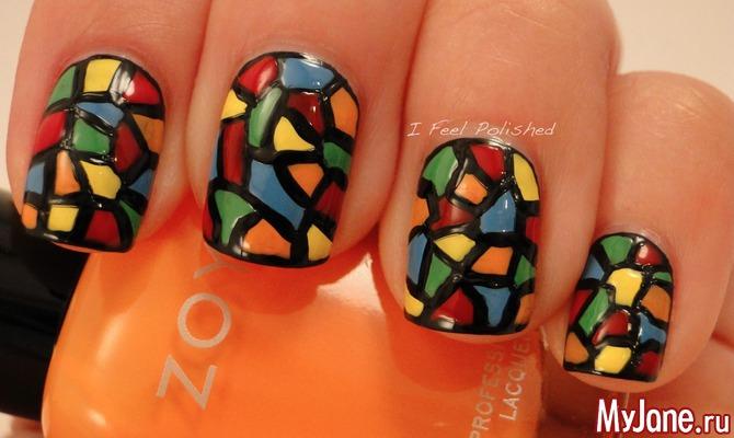 Дизайн витраж ногтей
