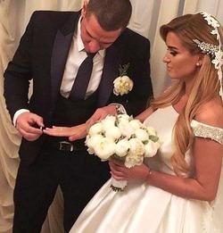Белая свадьба Ксении Бородиной