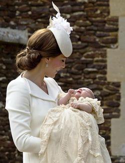Принц Уильям и Кейт Миддлтон крестили дочь