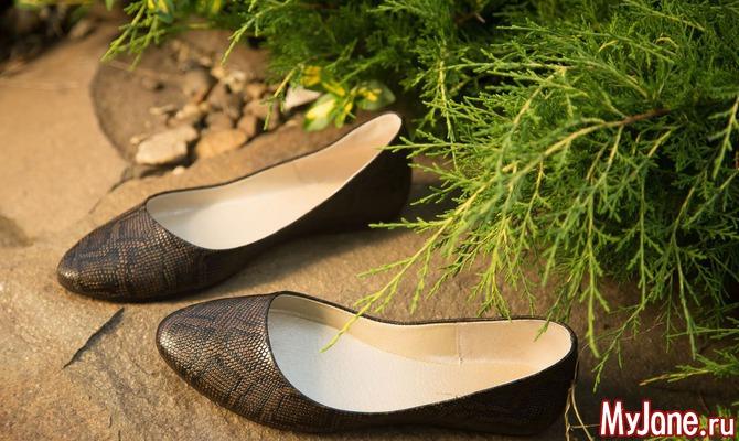 Летние туфли на плоской подошве