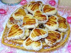 Кунжутное полосатое печенье