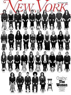 Журнал New York собрал 35 жертв актёра Билла Косби на обложке