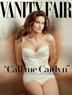 Сменивший пол Брюс Дженнер в женском облике на обложке Vanity Fair