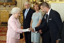 Дэвид Бекхэм побывал на приеме у британской королевы