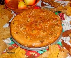 Пирог с рисовыми тефтельками