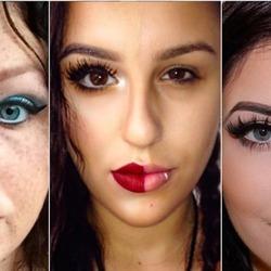 Новый флешмоб Сети – макияж наполовину