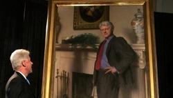 Тень Моники Левински изобразили на портрете Билла Клинтона