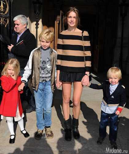 Водянова наталья и её дети фото новое
