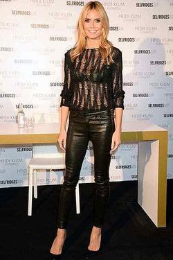 Хайди Клум привезла свое нижнее белье в Лондон