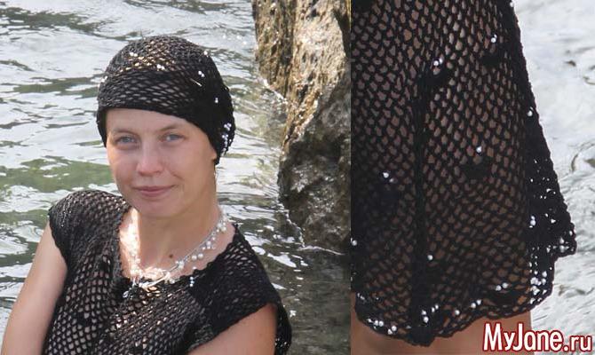 Платье и берет «Черная жемчужинка»