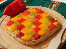 Пряный пирог с перцем и творогом