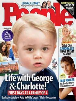 Принц Джордж стал героем журнала People