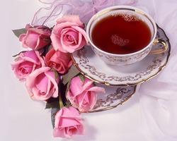 Чашка листового чая