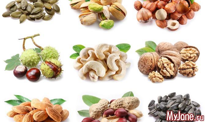 Самые полезные и не полезные для здоровья орехи