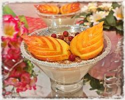 """Рисовый десерт с персиком """"Наслаждение"""""""