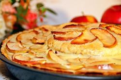 Двухэтажный французский яблочный торт