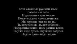 """"""" Я РУССКИЙ БЫ ВЫУЧИЛ ТОЛЬКО ЗА ТО..."""""""