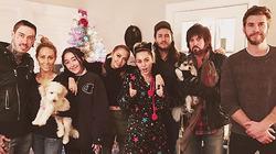Рождественский ужин Майли Сайрус и Лиама Хемсворта