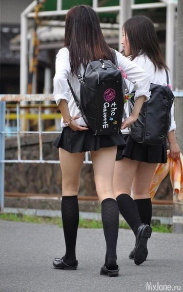 Япония школьницы юбки