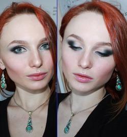 На очереди голубой! Вечерний макияж!