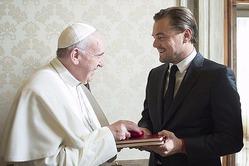 Леонардо Ди Каприо встретился с Папой Римским Франциском